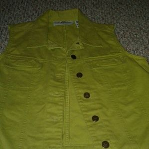 marisa christina green denim vest
